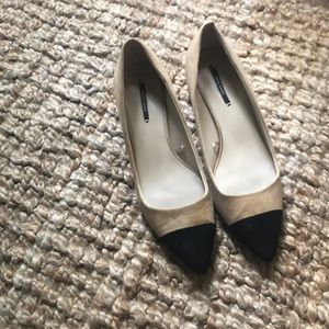 Zara cap toe pumps, size 40